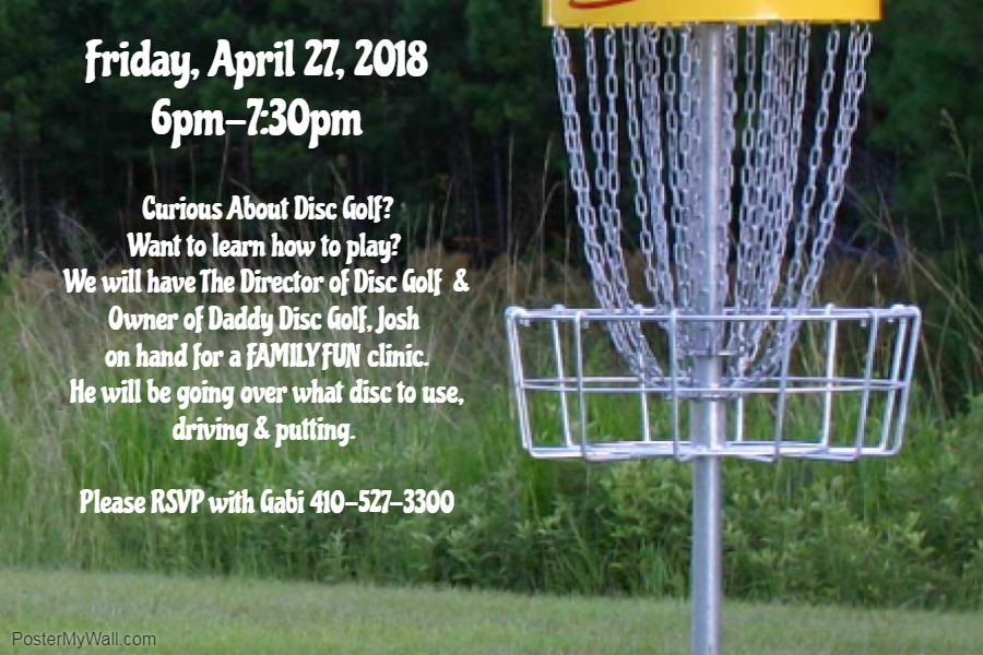 88dfcd36 Family Disc Golf Clinic | Hunt Valley Country Club | 2018-04-27
